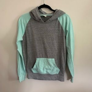 Zine Women's Small Pullover Hoodie Gray Blue